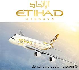 etihad airways airlines dental care costa rica