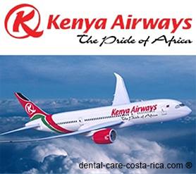 kenya airways airlines dental care costa rica