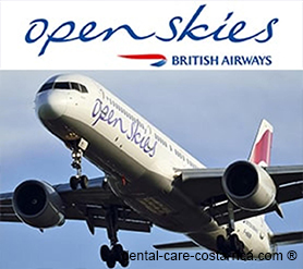 open skies airlines dental care costa rica