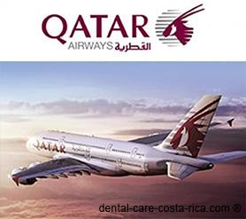quatar airways airlines dental care costa rica