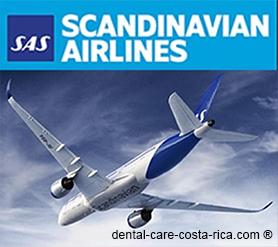 scandinavian airlines dental care costa rica