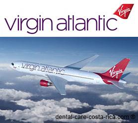 virgin atlantic airlines dental care costa rica